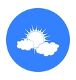 Cloudy weather icon in black style isolated on vector image