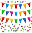 Colorful confetti pattern vector image