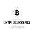 crypto currency or bitcoin logo design modern vector image