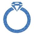 Diamond Ring Grainy Texture Icon vector image