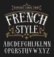 french style vintage poster vector image