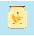 Glass jar with canned chicken design vector image