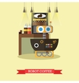 robot coffee flat design vector image