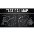 Tactical map of the fighting vector image