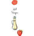vinegar vector image