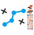 route points icon with dating bonus vector image