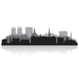 York city skyline silhouette vector image vector image