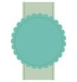 green badge label banner empty sale sticker vector image