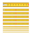 seamless tape measure vector image