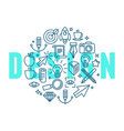 graphic design concept in linear style vector image vector image