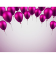 Celebrate background with purple balloons vector image