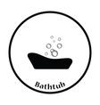 Baby bathtub icon vector image vector image