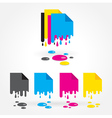 cmyk blank drops colored vector image