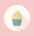 Cupcake flat icon vector image