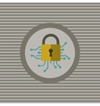 Cyber security flat icon vector image