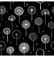 Dandelions seamless pattern for your design vector image