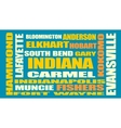 indiana state cities list vector image