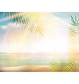 Sunrise on Caribbean beach design template vector image