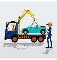 Towing service vector image