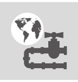 World oil industry consumption gas pipeline vector image