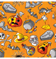 Seamless Halloween vector image vector image