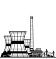 Silhouette Nuclear Power Plant vector image