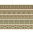 Set of five decorative borders vector image vector image