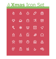 Xmas icon set vector image vector image