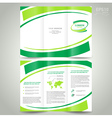 brochure design template folder leaflet green vector image