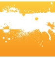 Orange ink background vector image