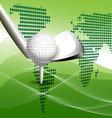 golbal golf concept vector image vector image