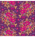 pattern bouquet violet vector image