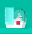 bathroom flat cartoon bath vector image