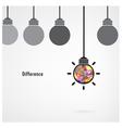 Creative light bulb signs vector image