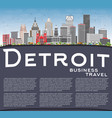 Detroit skyline with gray buildings blue sky and vector image