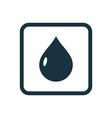 drop icon Rounded squares button vector image