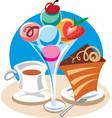 ice cream dessert vector image