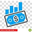 Sales Bar Chart Eps Icon vector image