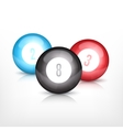 Three billiard balls vector image
