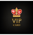 VIP card with ruby king crown vector image