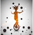 Jester juggler vector image vector image