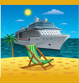cruise tropical resort vector image