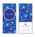 dark blue turkish floral vertical round vector image