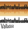 Valladolid skyline in orange vector image