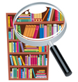 Research bookshelf vector image