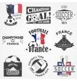 Football Championship of France set Soccer time vector image