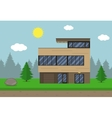 Cottage house building Flat design style Modern vector image