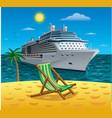 cruise tropical resort vector image