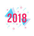 happy new year 2018 memphis style card vector image