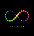 infinity symbol sphere shapes limitless sign logo vector image